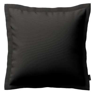 Mona dekoratyvinių pagalvėlių užvalkalas su sienele 702-08 grafito pilka su rudumo atspalviu Kolekcija Cotton Panama