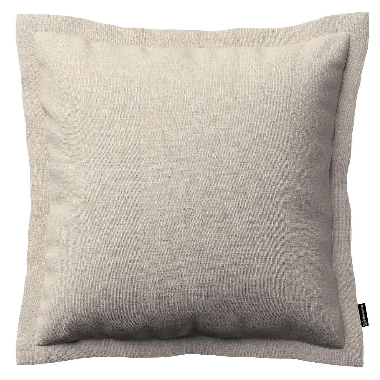 Mona dekoratyvinių pagalvėlių užvalkalas su sienele 45 x 45cm kolekcijoje Linen , audinys: 392-05