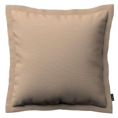 Pudebetræk<br/>Mona med ståsøm 702-28 Sandfarvet Kollektion Cotton Panama