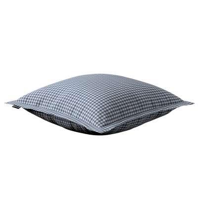 Poszewka Mona na poduszkę 136-00 granatowo biała krateczka (0,5x0,5cm) Kolekcja Quadro