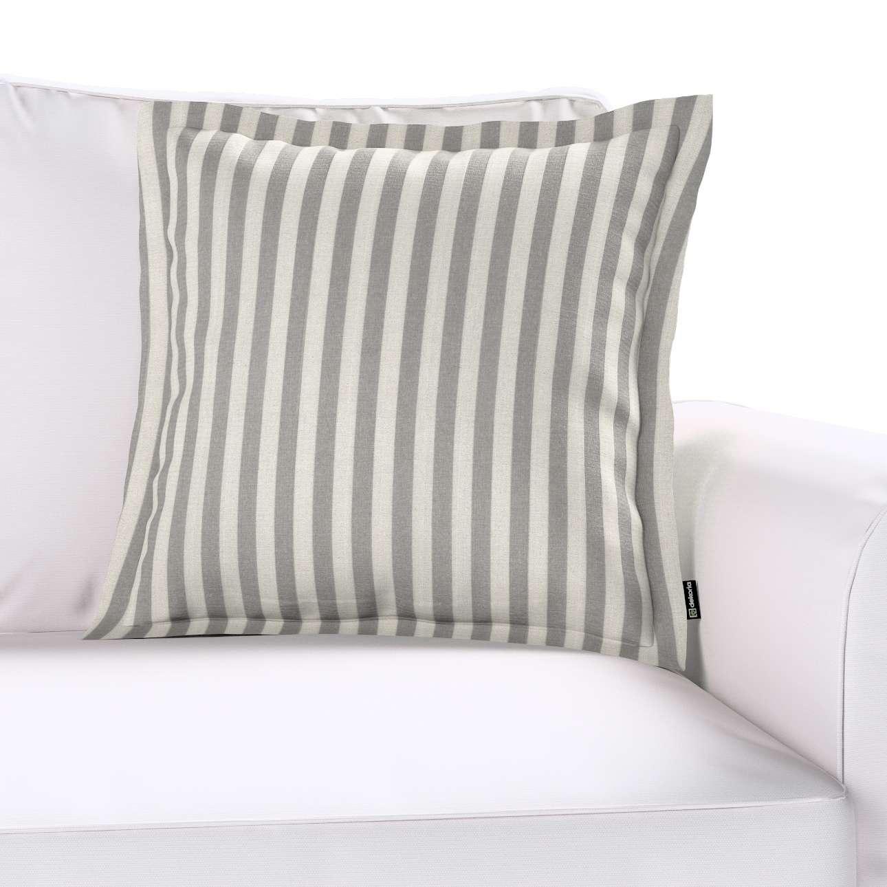 Mona dekoratyvinių pagalvėlių užvalkalas su sienele kolekcijoje Quadro, audinys: 136-12