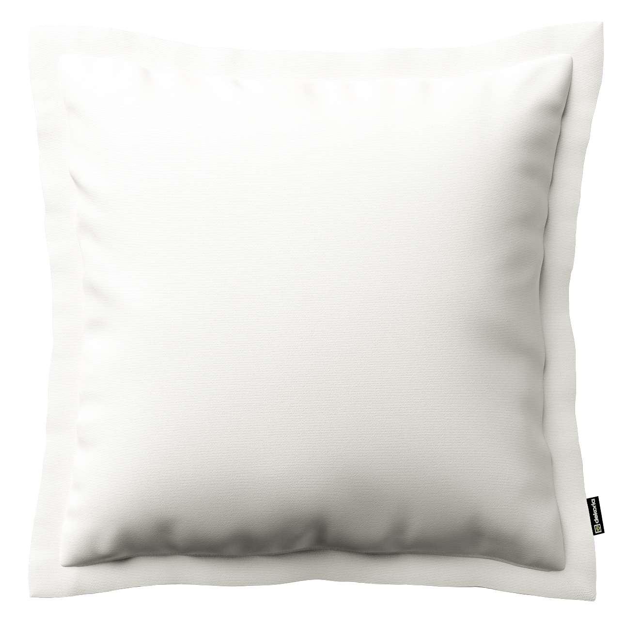 Kissenhülle Mona mit Stehsaum, weiss, 45 × 45 cm, Cotton Panama | Heimtextilien > Bettwäsche und Laken > Kopfkissenbezüge | Dekoria