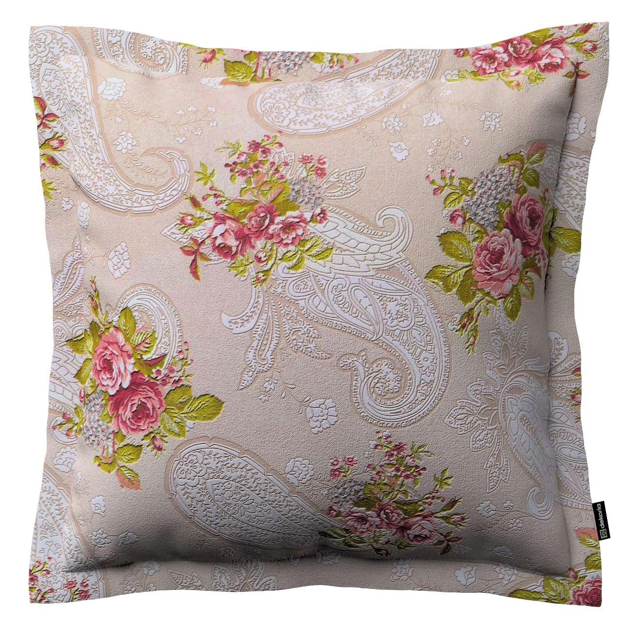 Mona dekoratyvinių pagalvėlių užvalkalas su sienele 45 x 45cm kolekcijoje Flowers, audinys: 311-15