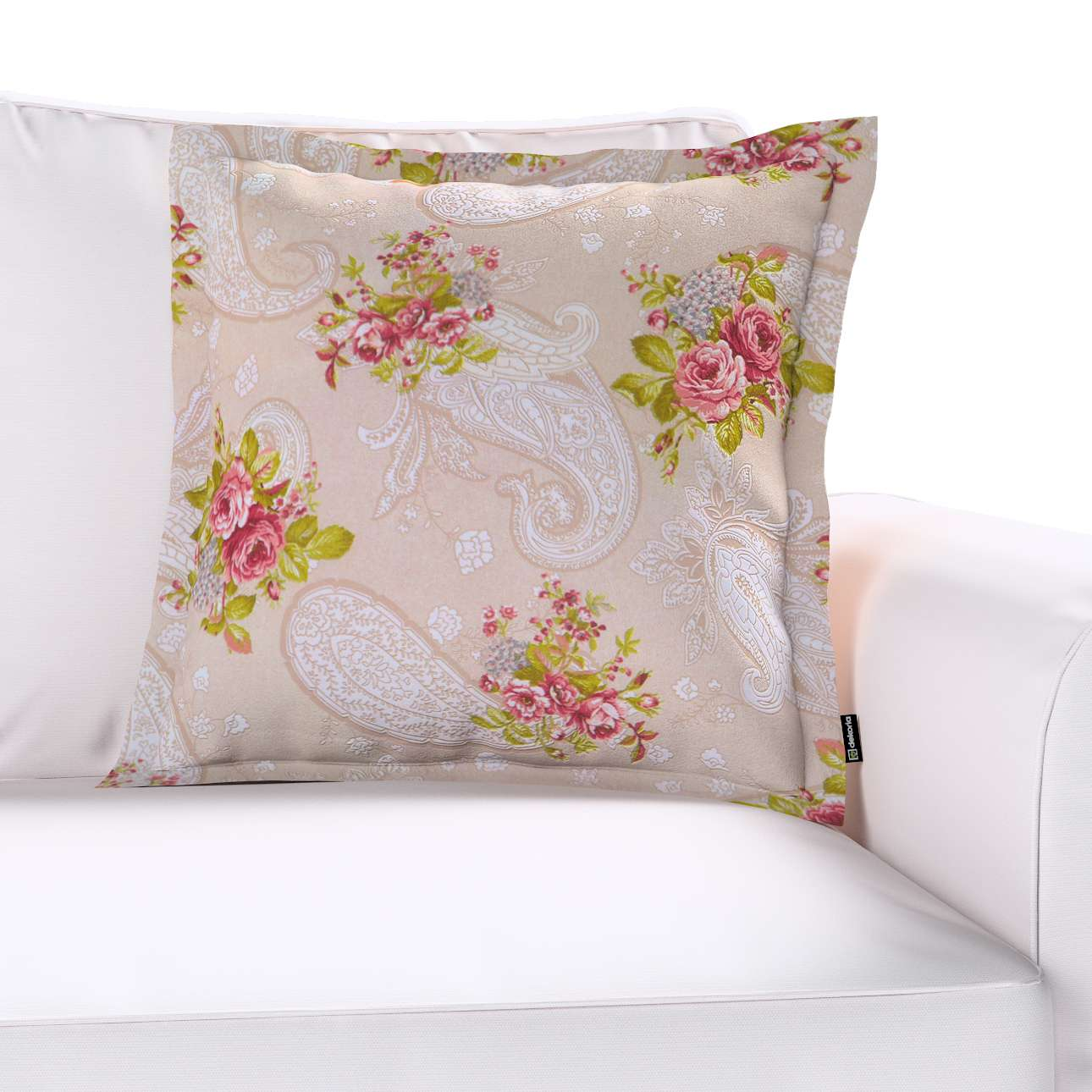 Poszewka Mona na poduszkę w kolekcji Flowers, tkanina: 311-15