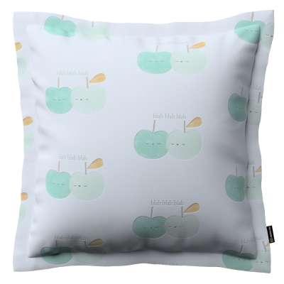 Mona dekoratyvinių pagalvėlių užvalkalas su sienele 151-02 Pastelinės žalios šviesiame fone Kolekcija Little World