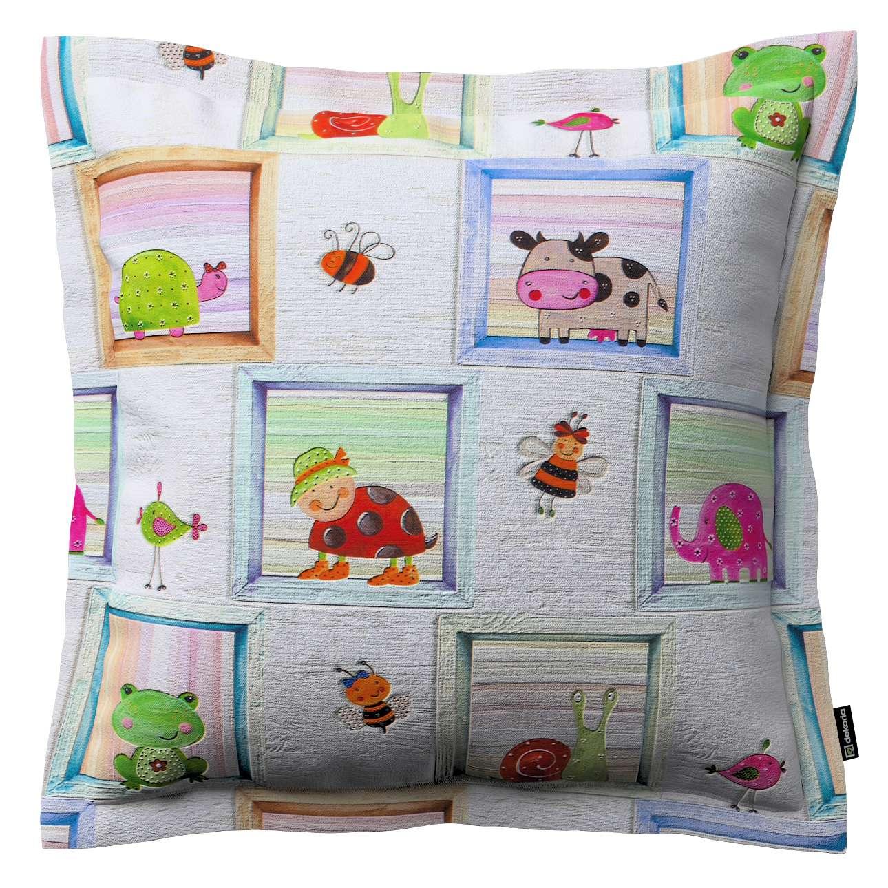 Mona dekoratyvinių pagalvėlių užvalkalas su sienele 38 x 38 cm kolekcijoje Apanona, audinys: 151-04