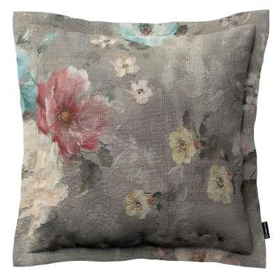Poszewka Mona na poduszkę 137-81 niebieskie i różowe kwiaty na szarym tle Kolekcja Flowers