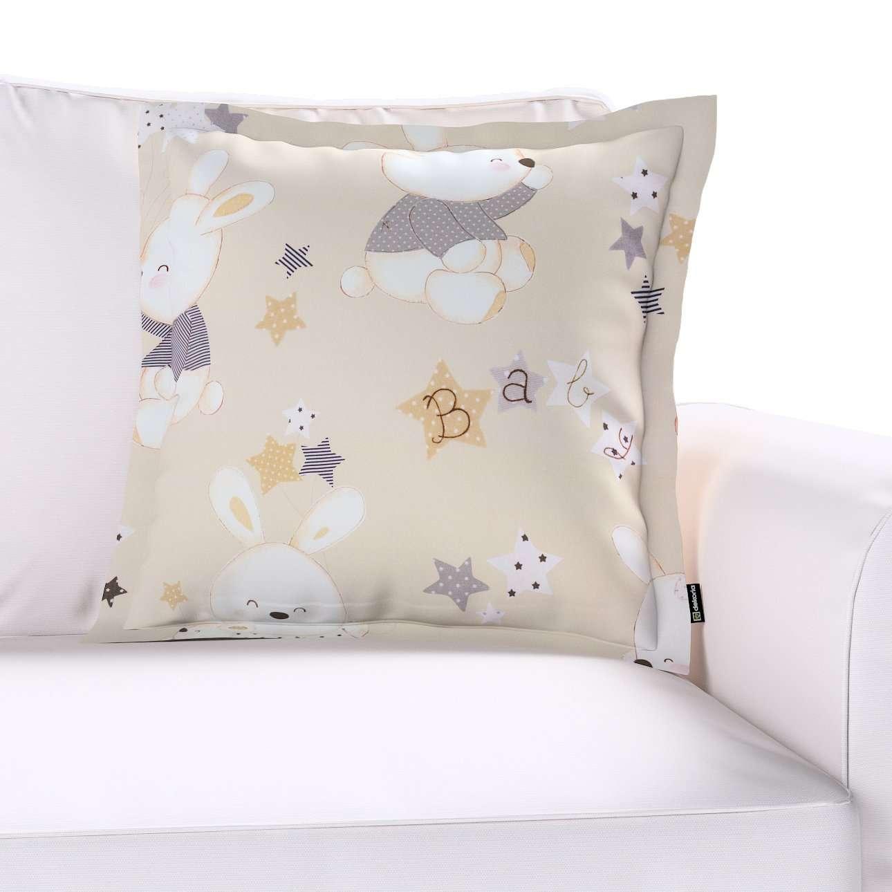 Mona dekoratyvinių pagalvėlių užvalkalas su sienele kolekcijoje Adventure, audinys: 141-85