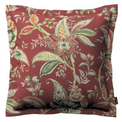 Poszewka Mona na poduszkę 142-12 wzory roślinne i kwiatowe na czerwono-ceglanym tle Kolekcja Gardenia