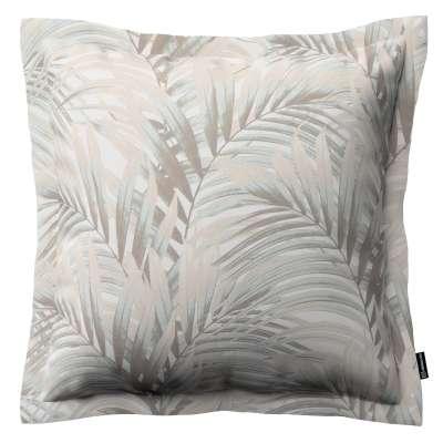 Mona dekoratyvinių pagalvėlių užvalkalas su sienele 142-14 rusvi pilkšvi lapai šviesiame fone Kolekcija Gardenia