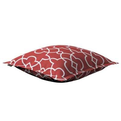 Poszewka Mona na poduszkę 142-21 czerwony w biały marokański wzór Kolekcja Gardenia