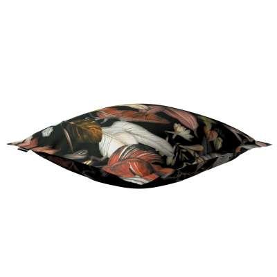 Poszewka Mona na poduszkę 143-10 kolorowe kwiaty na czarnym tle Kolekcja Abigail