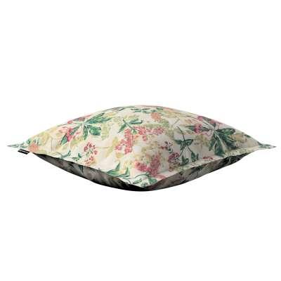 Poszewka Mona na poduszkę 143-41 różowo-beżowe rośliny na tle ecru Kolekcja Londres