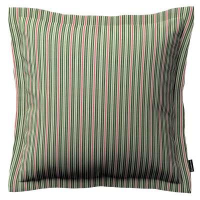 Poszewka Mona na poduszkę 143-42 pasy w odcieniach zieleni i czerwieni Kolekcja Londres