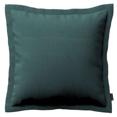 Mona cushion cover with border 159-09 off emerald green Collection Linen