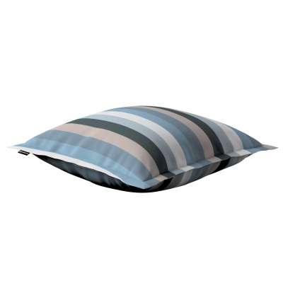Mona - potah na polštář hladký lem po obvodu 143-57 pruhy modrá béžová Kolekce Vintage 70's