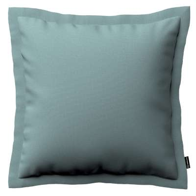 Mona - potah na polštář hladký lem po obvodu 702-40 eukalyptová modrá Kolekce Cotton Panama