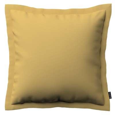Poszewka Mona na poduszkę 702-41 zgaszony żółty Kolekcja Cotton Panama