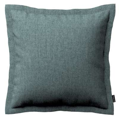 Mona cushion cover with border 704-85 gray blue chenille Collection City