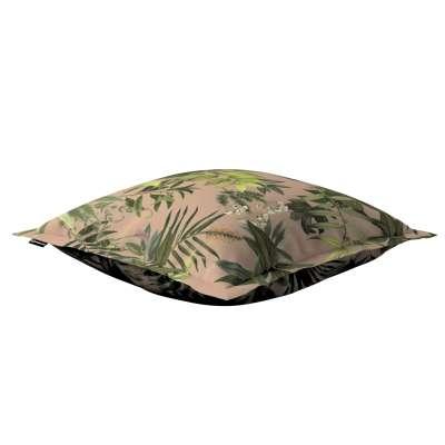 Poszewka Mona na poduszkę 143-71 zielona roślinność na brudnoróżowym tle Kolekcja Tropical Island