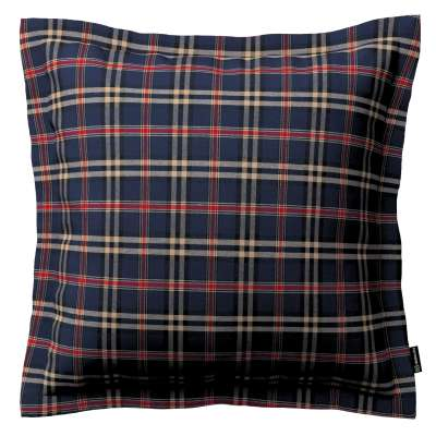 Mona cushion cover with border 142-68 dark blue and red check Collection Christmas