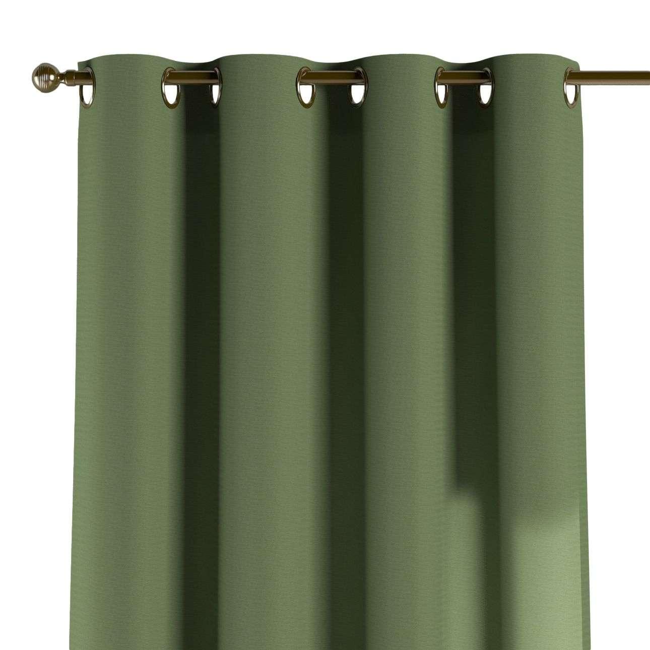 Gardin med öljetter 1 längd 130 x 260 cm i kollektionen Jupiter, Tyg: 127-52