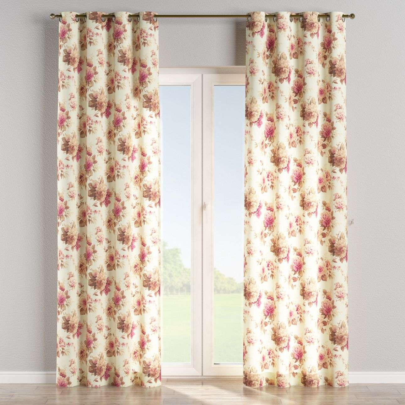 Eyelet curtains 130 x 260 cm (51 x 102 inch) in collection Mirella, fabric: 141-06