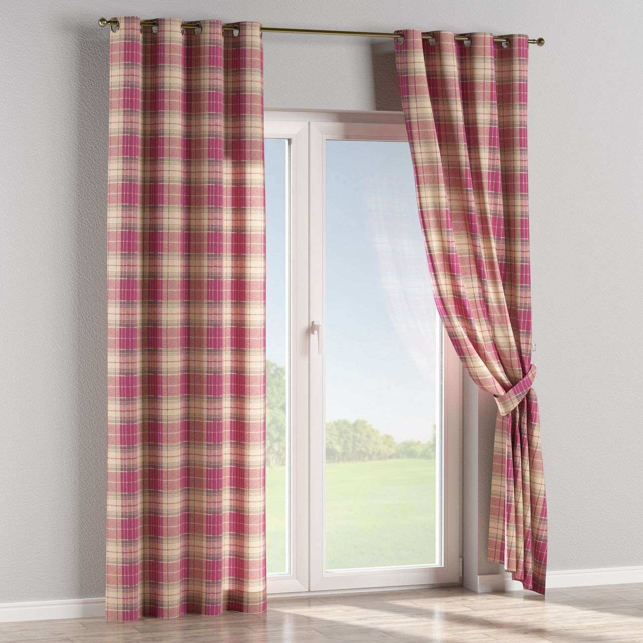 Eyelet curtains 130 × 260 cm (51 × 102 inch) in collection Mirella, fabric: 142-07