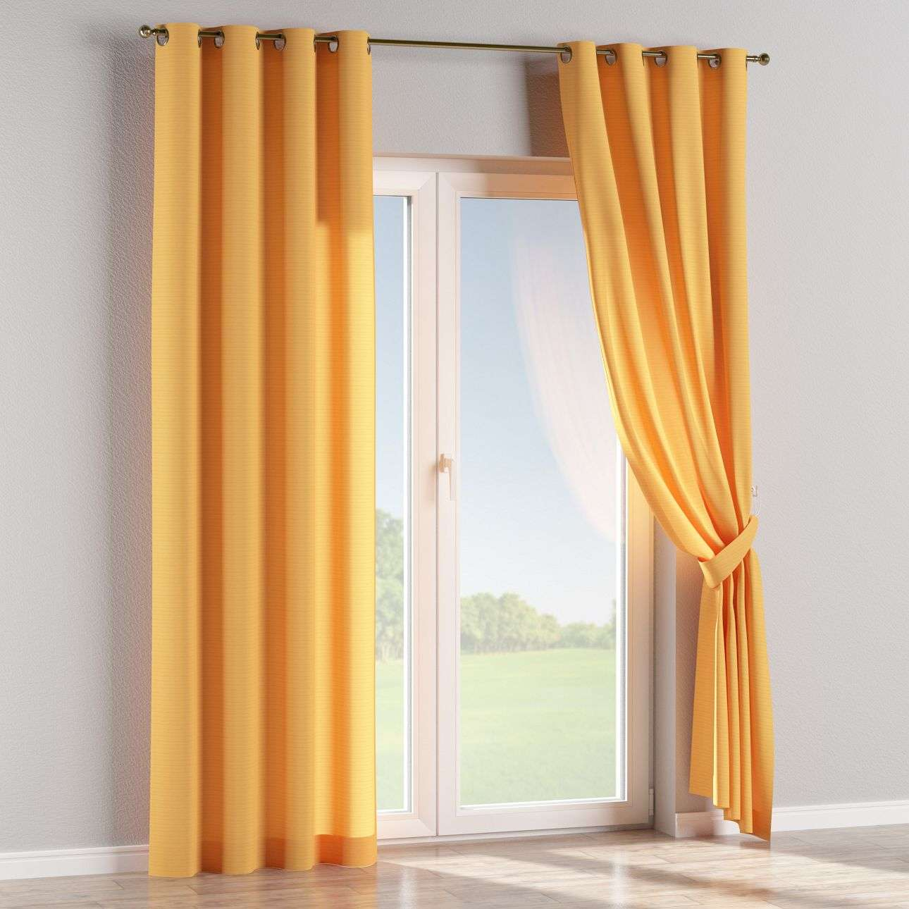Eyelet curtains 130 x 260 cm (51 x 102 inch) in collection Jupiter, fabric: 127-46