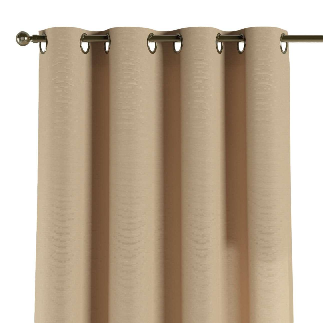 Žiedinio klostavimo užuolaidos 130 x 260 cm (plotis x ilgis) kolekcijoje Cotton Panama, audinys: 702-01