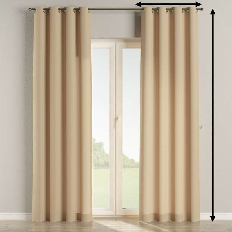 Eyelet curtain in collection Panama Cotton, fabric: 702-01