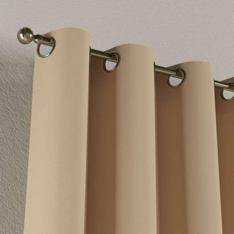Gardin med öljetter 1 längd i kollektionen Panama Cotton, Tyg: 702-01