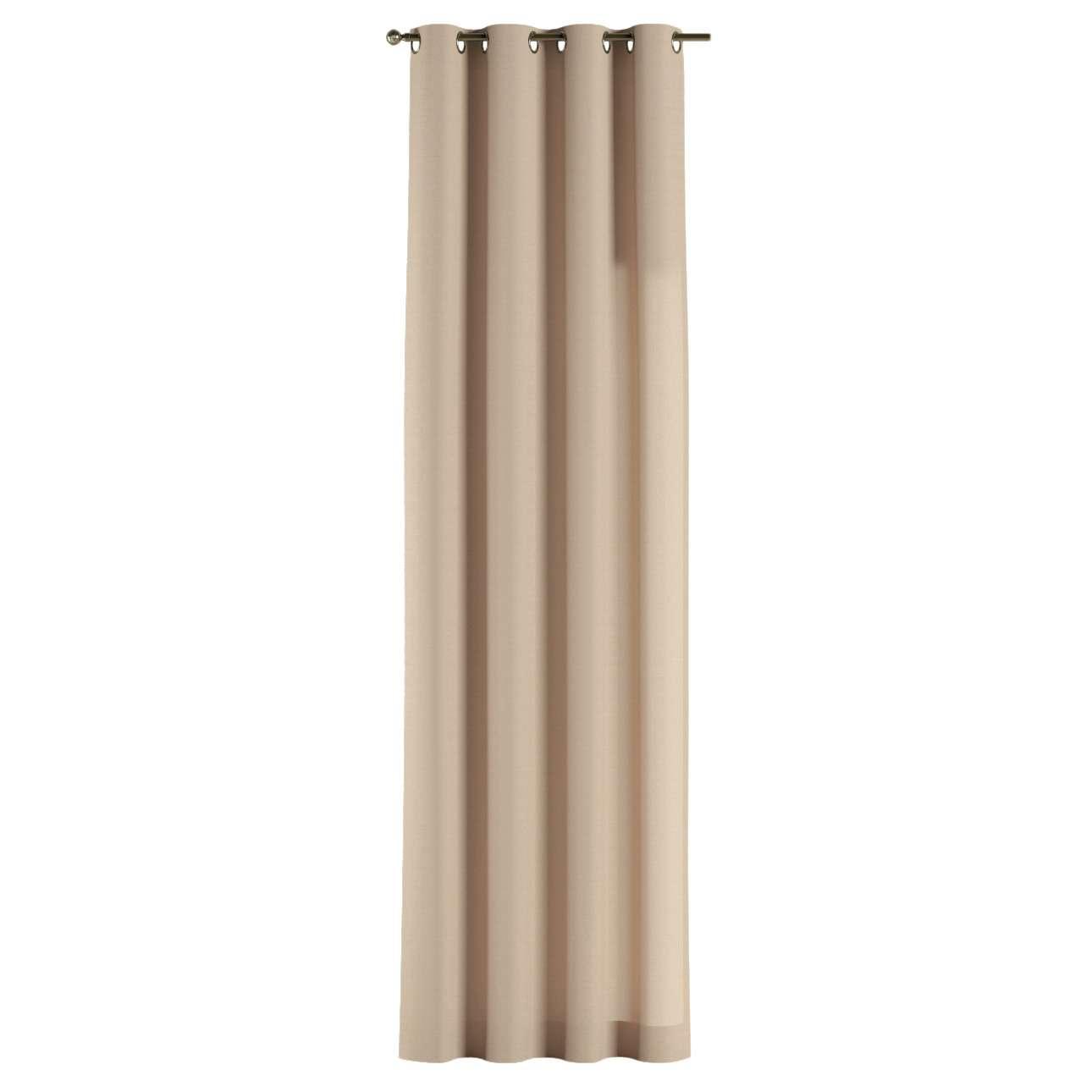 Gardin med öljetter 1 längd 130 x 260 cm i kollektionen Panama Cotton , Tyg: 702-01