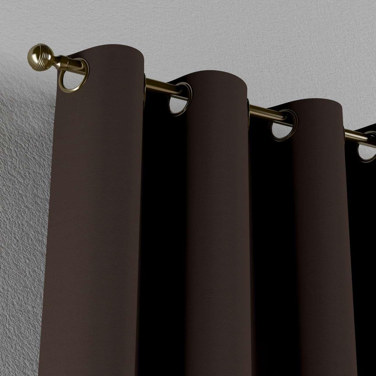 Gardin med öljetter 1 längd 130 x 260 cm i kollektionen Panama Cotton , Tyg: 702-03