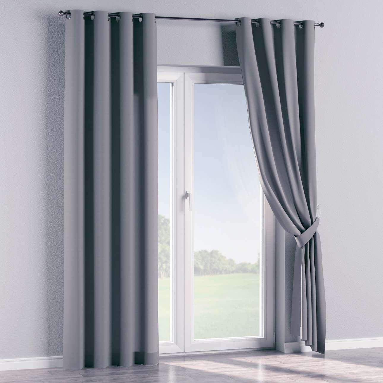 Gardin med maljer 1 stk. 130 x 260 cm fra kolleksjonen Cotton Panama, Stoffets bredde: 702-07