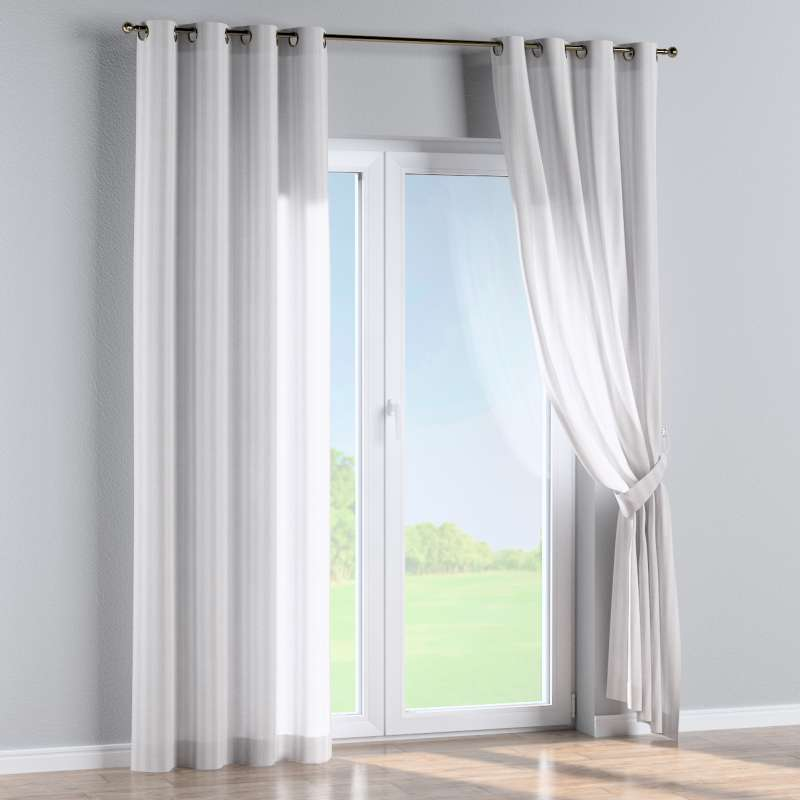 Eyelet curtain in collection Linen, fabric: 392-03
