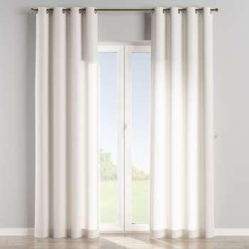 Gardin med öljetter 1 längd 130 x 260 cm i kollektionen Linne, Tyg: 392-04