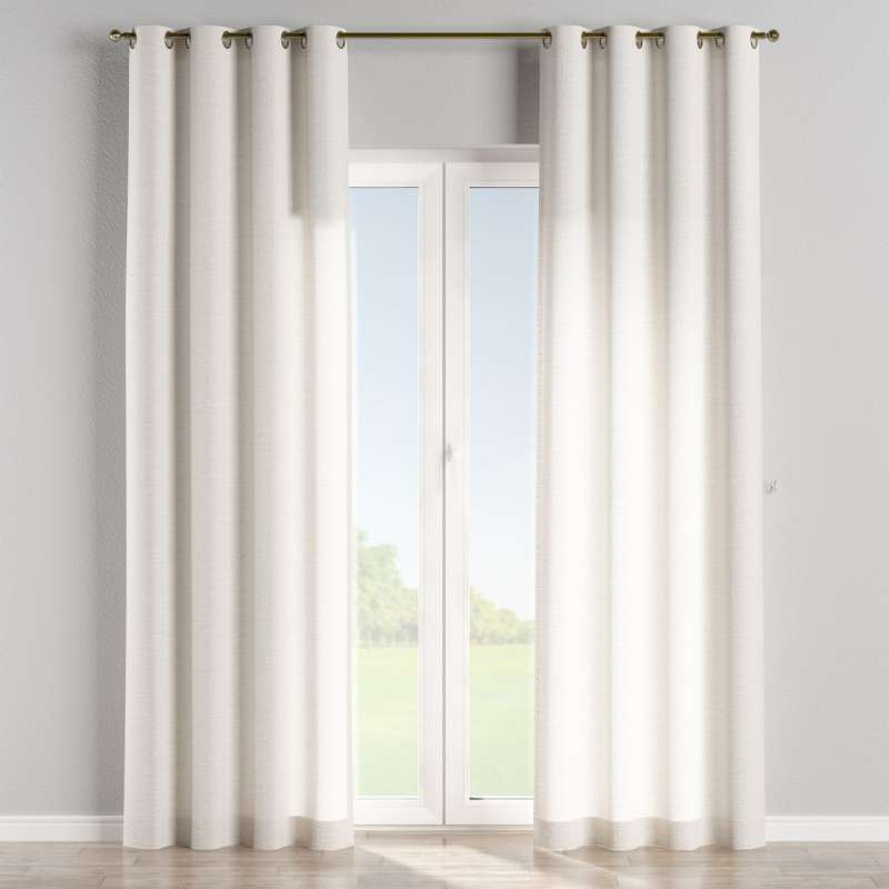 Eyelet curtain in collection Linen, fabric: 392-04
