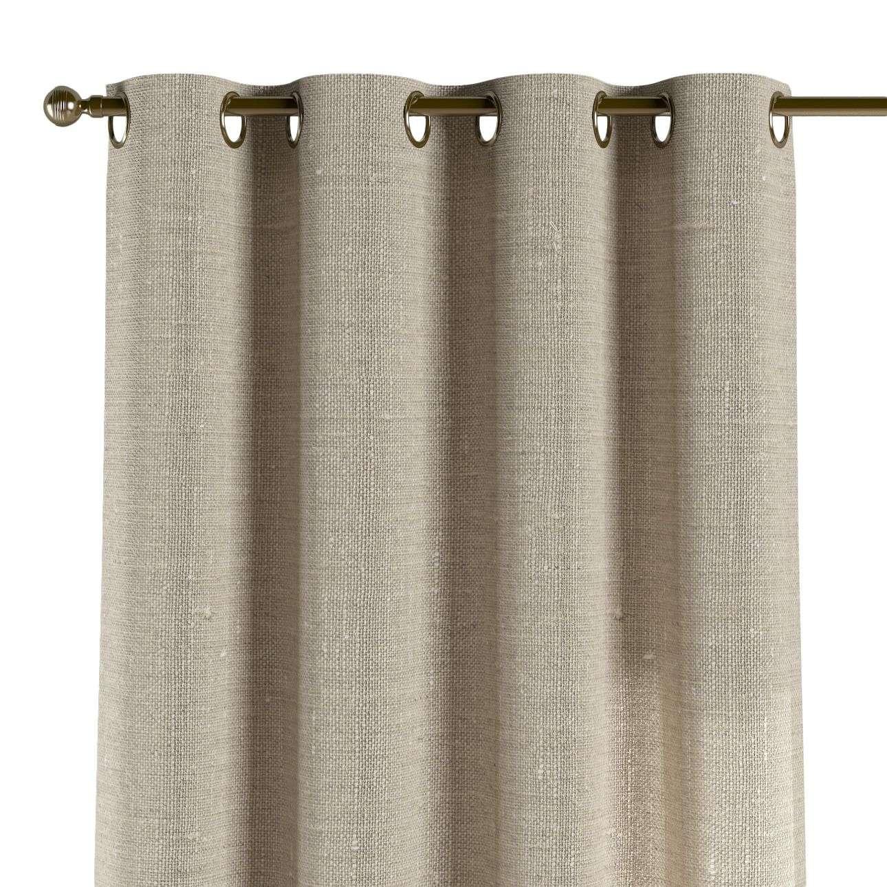 Gardin med maljer 1 stk. 130 x 260 cm fra kolleksjonen Linen, Stoffets bredde: 392-05