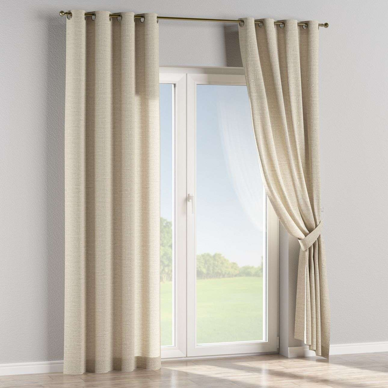 Eyelet curtains 130 x 260 cm (51 x 102 inch) in collection Linen , fabric: 392-05