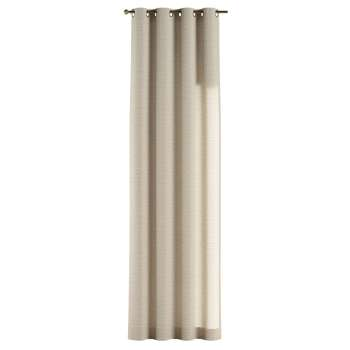 Gardin med öljetter 1 längd 130 x 260 cm i kollektionen Linne, Tyg: 392-05