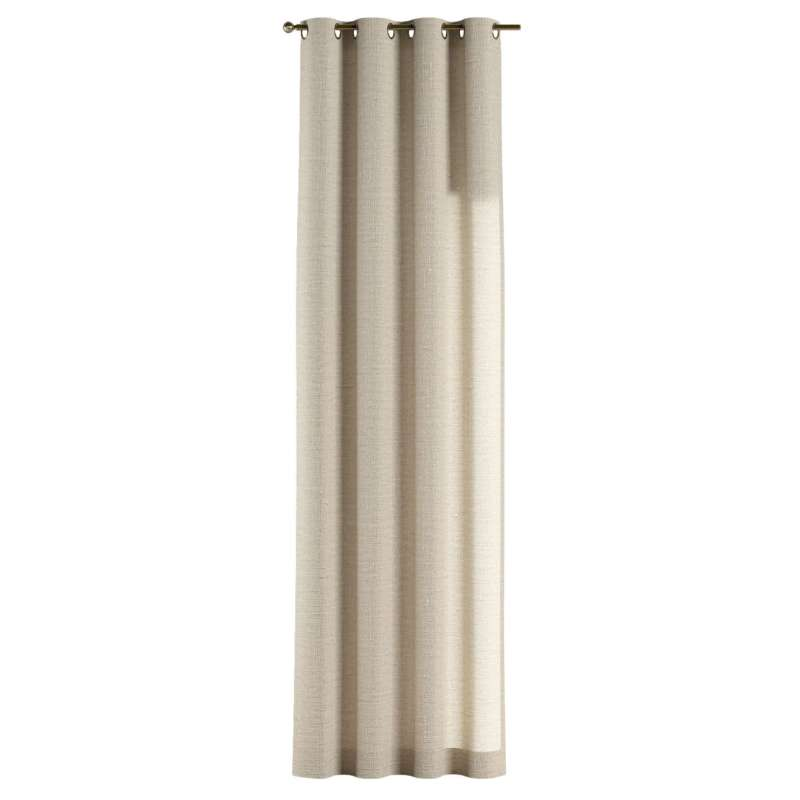 Gardin med öljetter 1 längd i kollektionen Linne, Tyg: 392-05