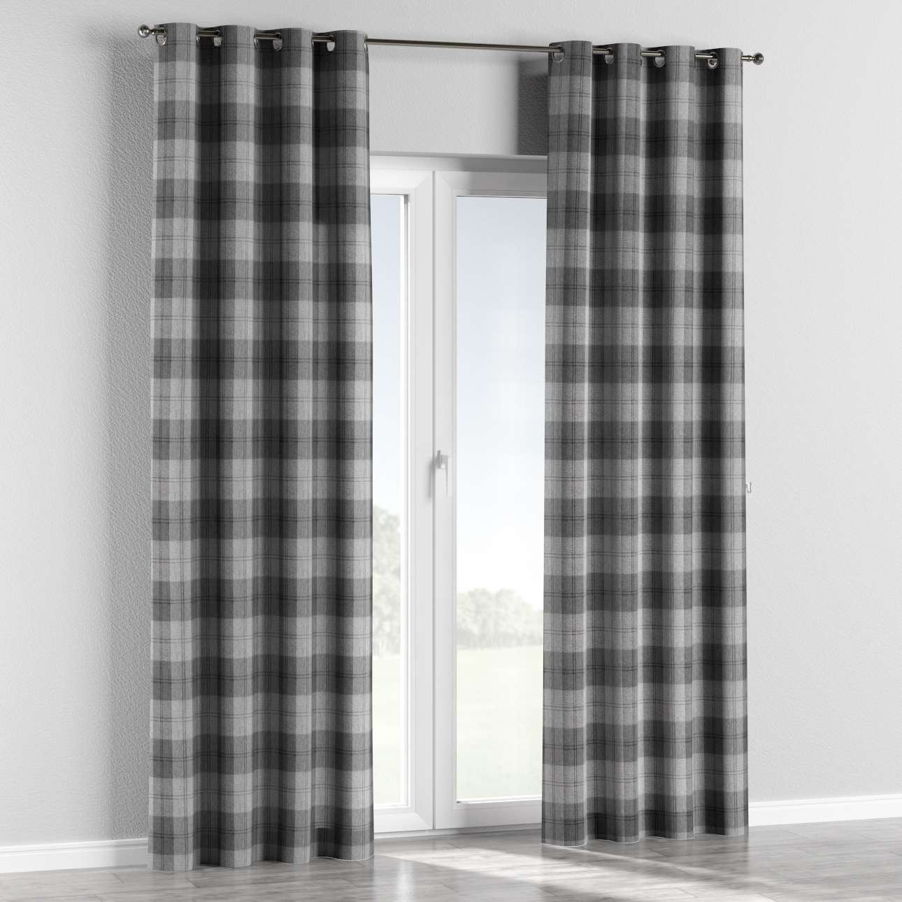 Eyelet curtains 130 x 260 cm (51 x 102 inch) in collection Edinburgh , fabric: 115-75