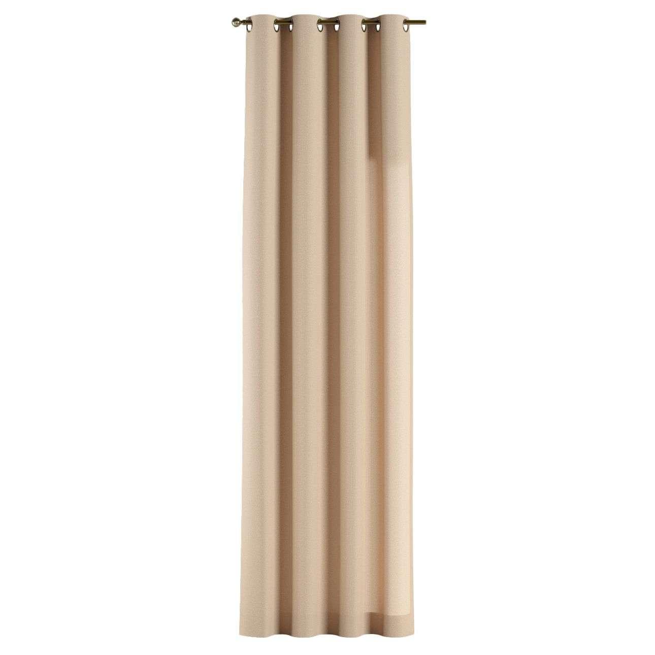Gardin med öljetter 1 längd 130 x 260 cm i kollektionen Edinburgh , Tyg: 115-78