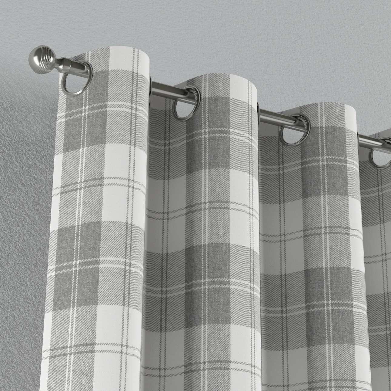 Gardin med öljetter 1 längd 130 x 260 cm i kollektionen Edinburgh , Tyg: 115-79