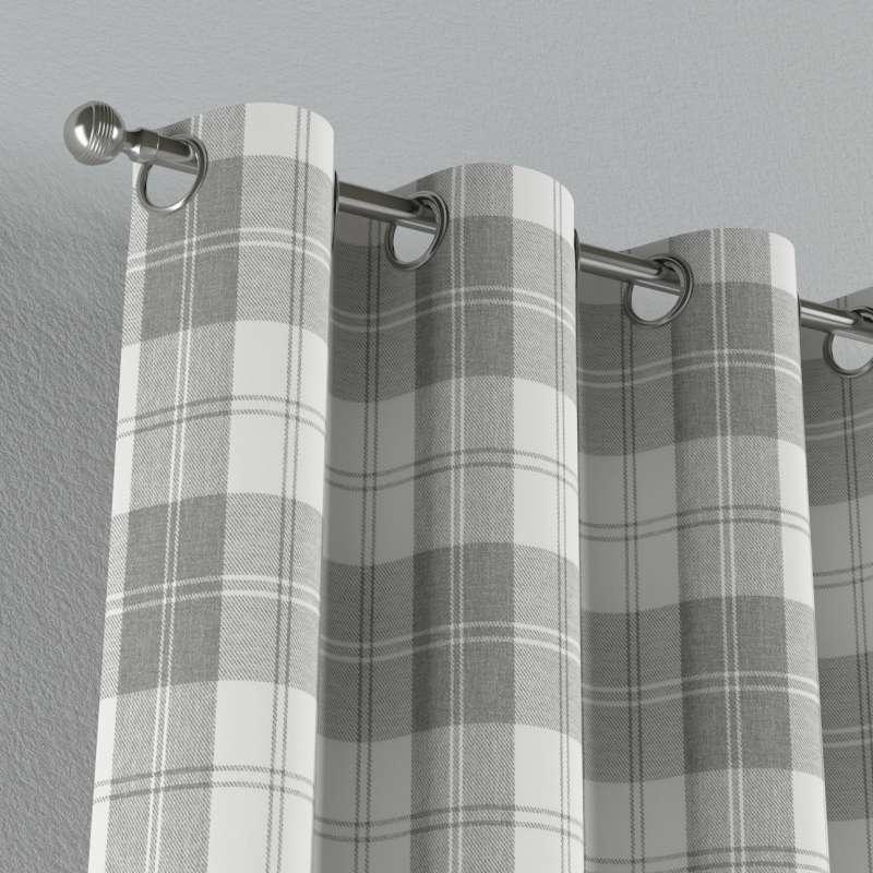 Gardin med öljetter 1 längd i kollektionen Edinburgh, Tyg: 115-79