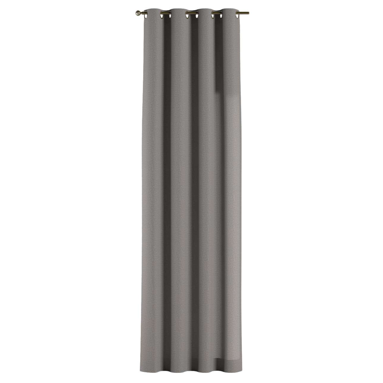 Gardin med öljetter 1 längd 130 x 260 cm i kollektionen Edinburgh , Tyg: 115-81