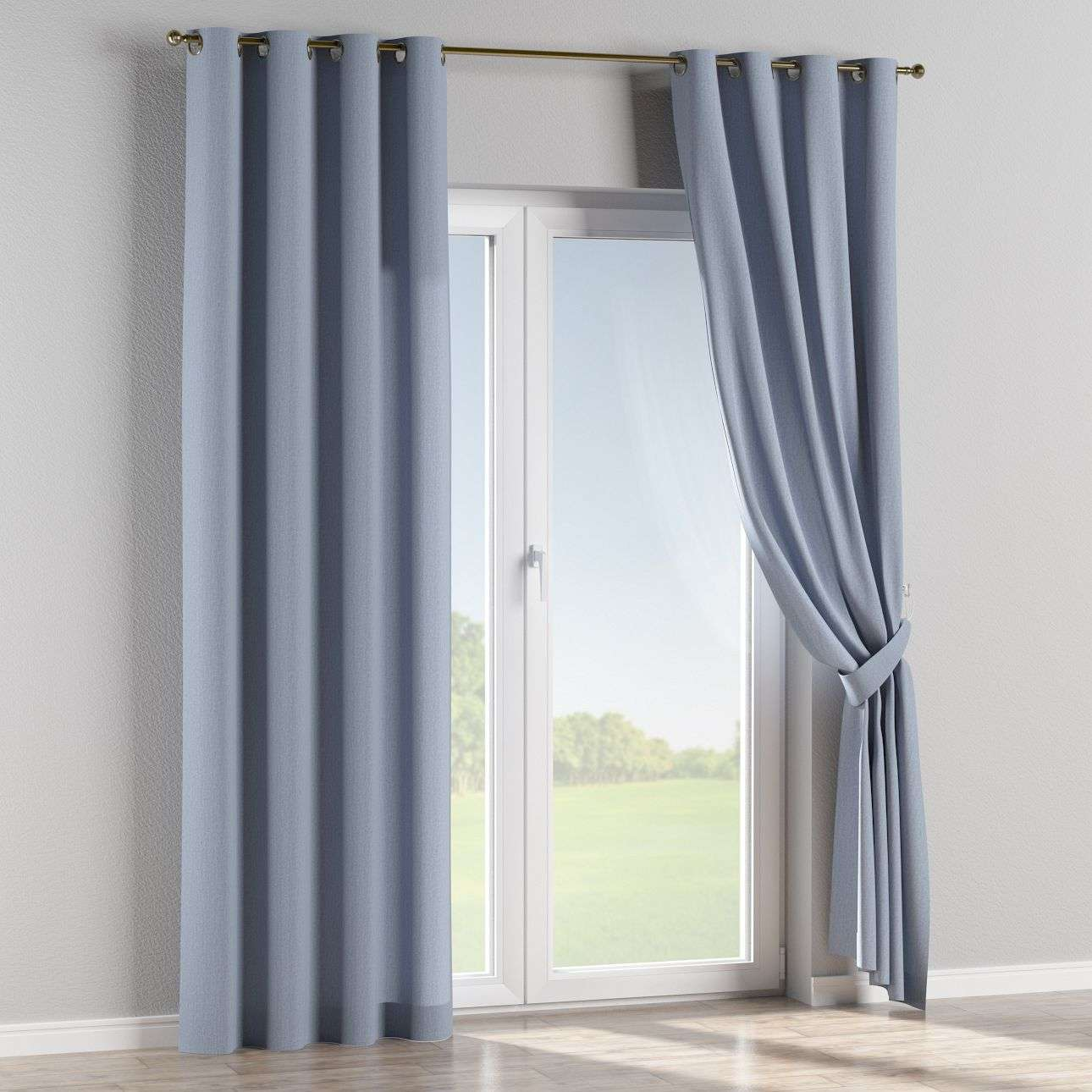 Eyelet curtains 130 × 260 cm (51 × 102 inch) in collection Chenille, fabric: 702-13