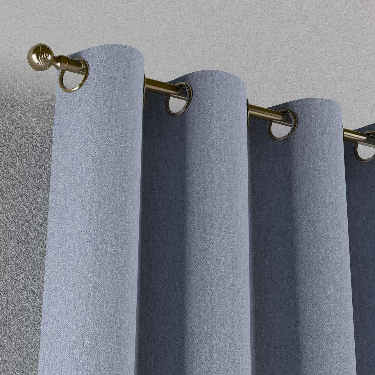 Gardin med öljetter 1 längd 130 x 260 cm i kollektionen Chenille, Tyg: 702-13