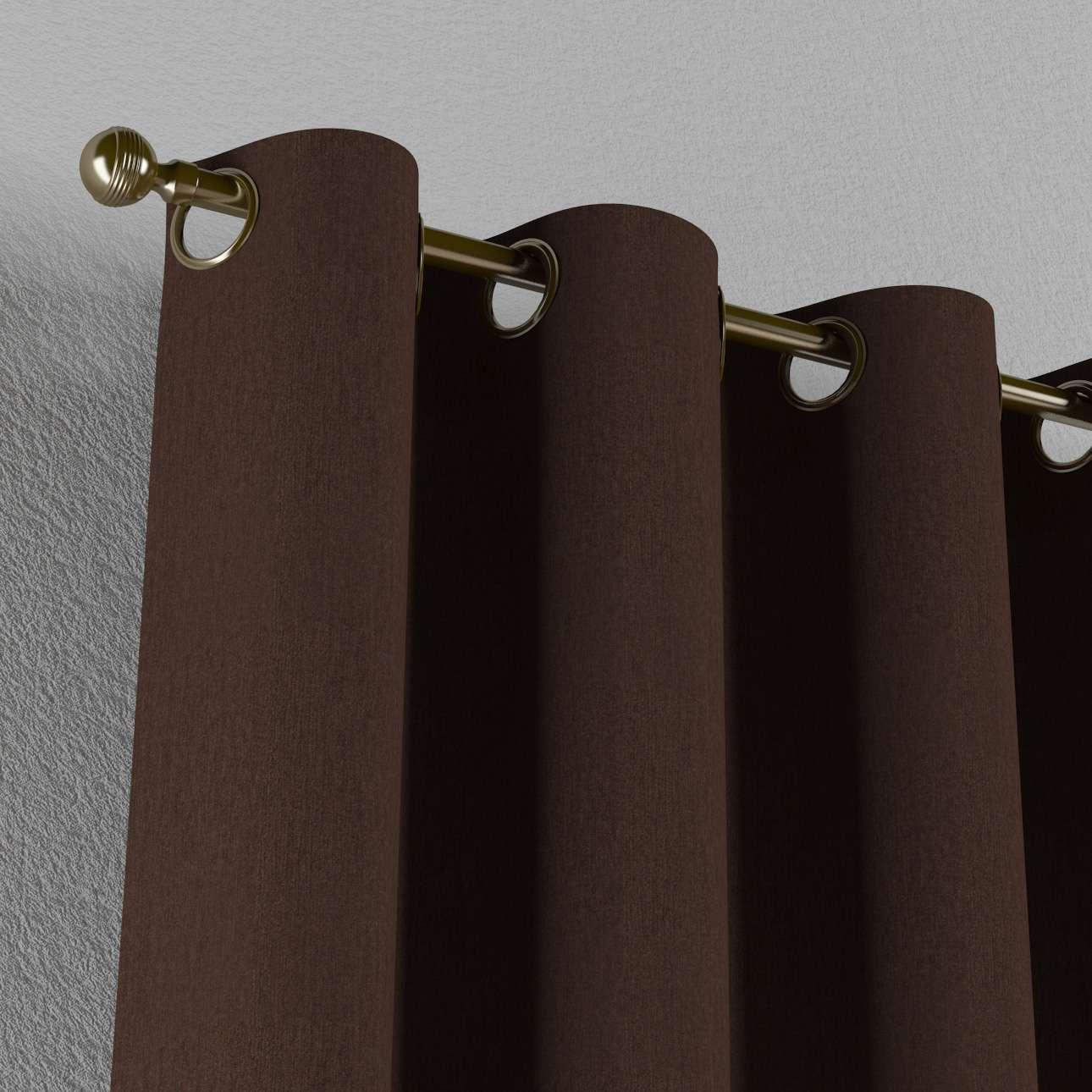 Žiedinio klostavimo užuolaidos 130 x 260 cm (plotis x ilgis) kolekcijoje Chenille, audinys: 702-18